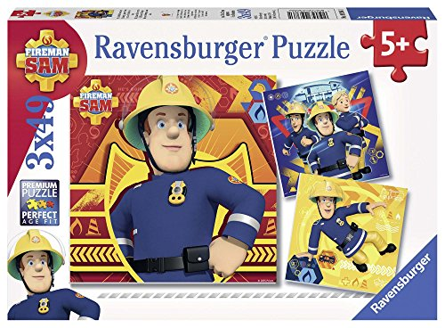 Sam el bombero - Puzzle, pack de 3 x 49 piezas (Ravensburger 93861)