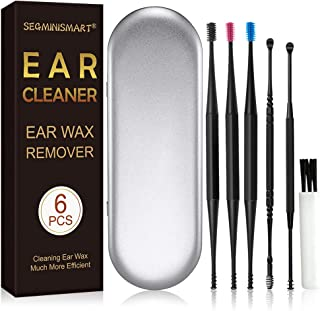 Limpiador de Oídos,Removedor de Cera de Oído,Ear Wax Removal,Ear Cleaner,Ear Wax Remover,Kit de limpieza para oídos,Limpiador de oídos inteligente,para bebés,jóvenes y adolescentes adultos,6 Pcs