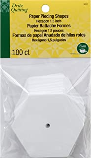 Dritz 3231 Paper Piecing Shapes, Hexagon, 1-1/2-Inch (100-Count)