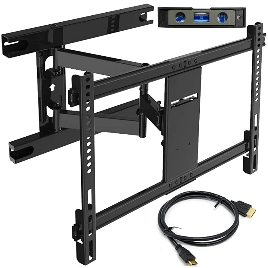 Everstone TV Wall Mount Bracket for Most 32-70 Inch Articulating Full Motion Mounts,LED,LCD and Plasma Flat Screen TVs,Curved TVs,With VESA 600 x 400 and 110LBS,HDMI Cable and Level,Fits 16