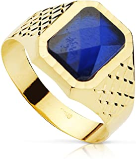 Sigillo da uomo Pietro Spinello zaffiro oro giallo 18 carati