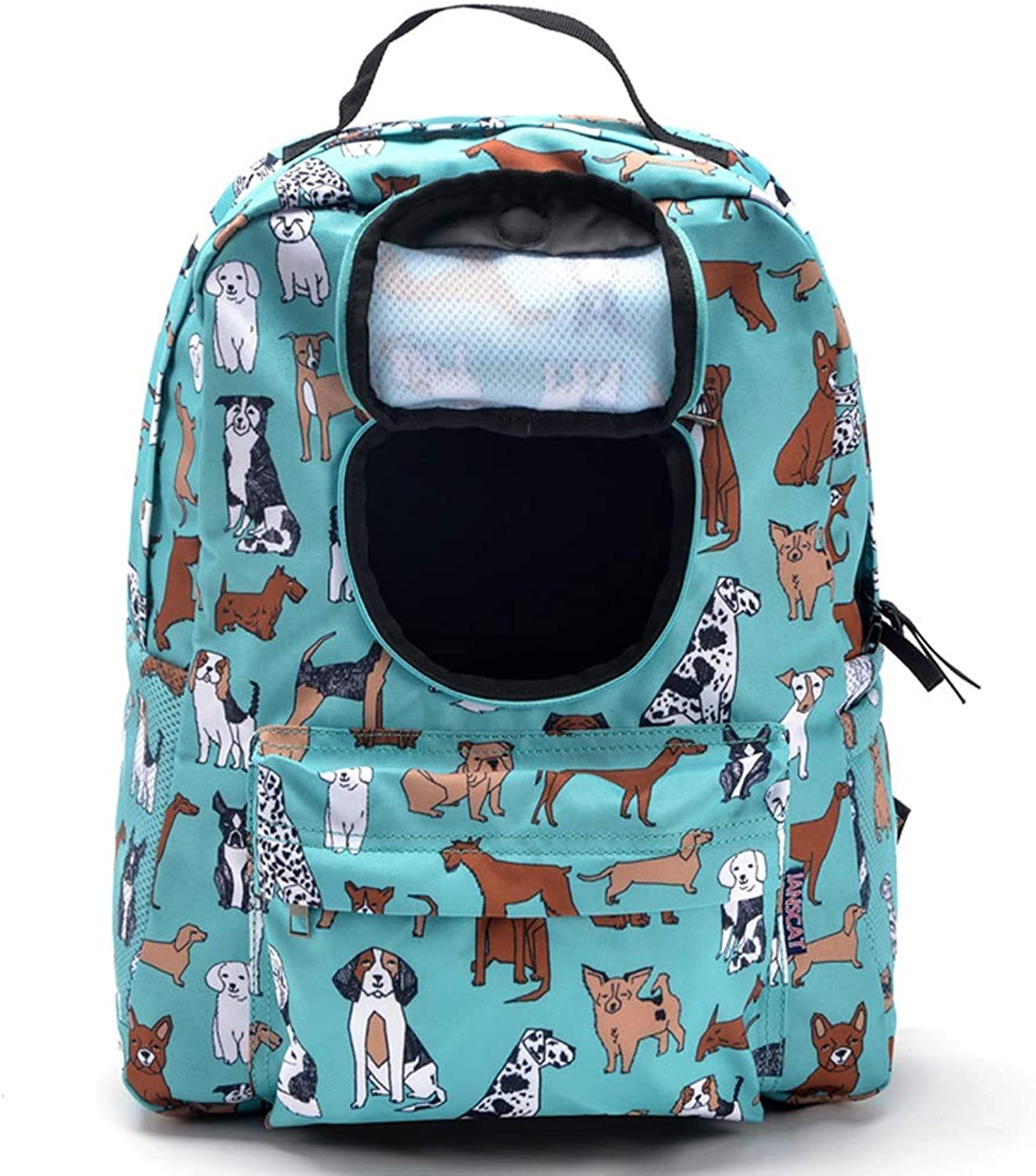 2019 Newly Designed Fashion Dog Carrier Backpack,Folding Pets Kitten Cat Carriers Bags for Medium Puppy and Cats Airline Approved for Hiking Travel (color   Green)