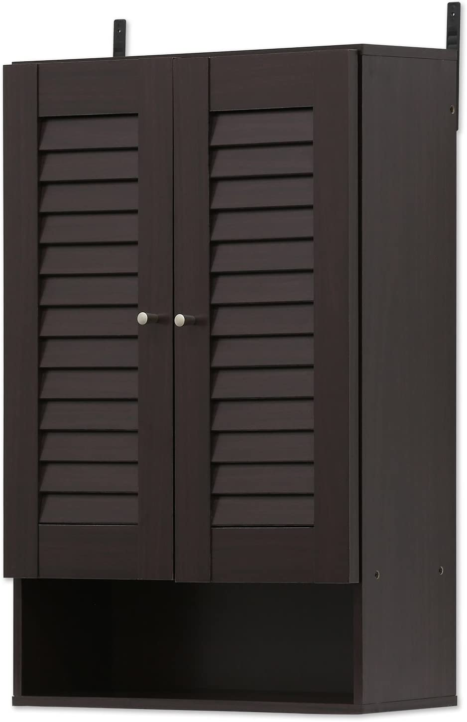 FURINNO Indo Max 54% OFF Double Outlet sale feature Door Wall Inch Cabinet Espresso 19.7