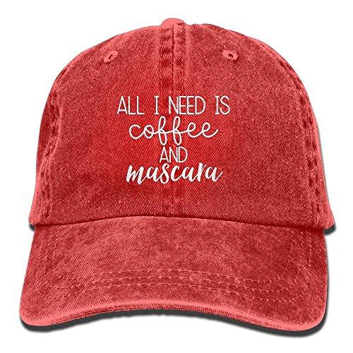 keben Need Is Coffee and Mascara 1 Classic Baseball Cap Unisex Adult Cowboy Hats