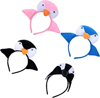 Lurrose 4pcs Kids Penguin Headband Animal Plush 3D Christmas Party Hair Hoop Costume Hair Band Xmas Party Headwear for Kid...