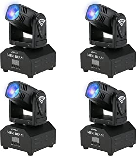 Lixada LED Head Moving Light Rotating Moving Head DMX512 Sound Activated Master-slave Auto Running 11/13 Channels RGBW Col...