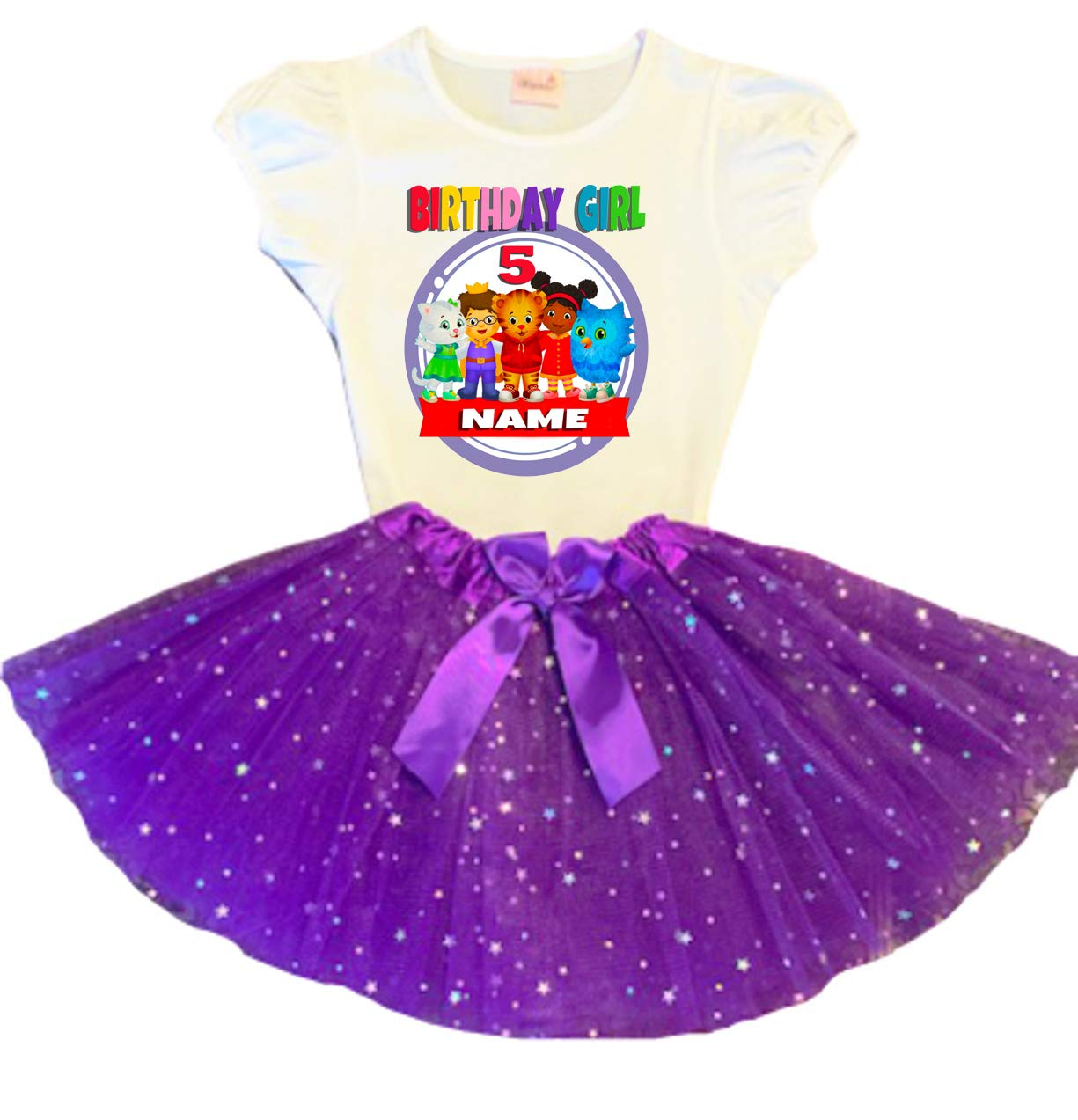 Daniel Tiger Birthday Ranking TOP6 Tutu Party 5th Purple Dress Cheap SALE Start