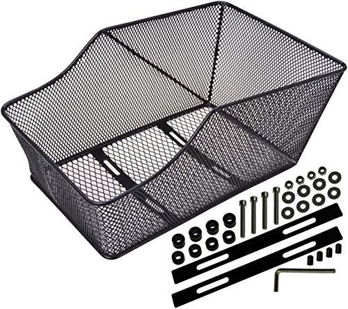 Filmer Fahrradkorb Hinterradkorb Schultaschenkorb zur Montage auf dem Gepäckträger in der Farbe Schwarz