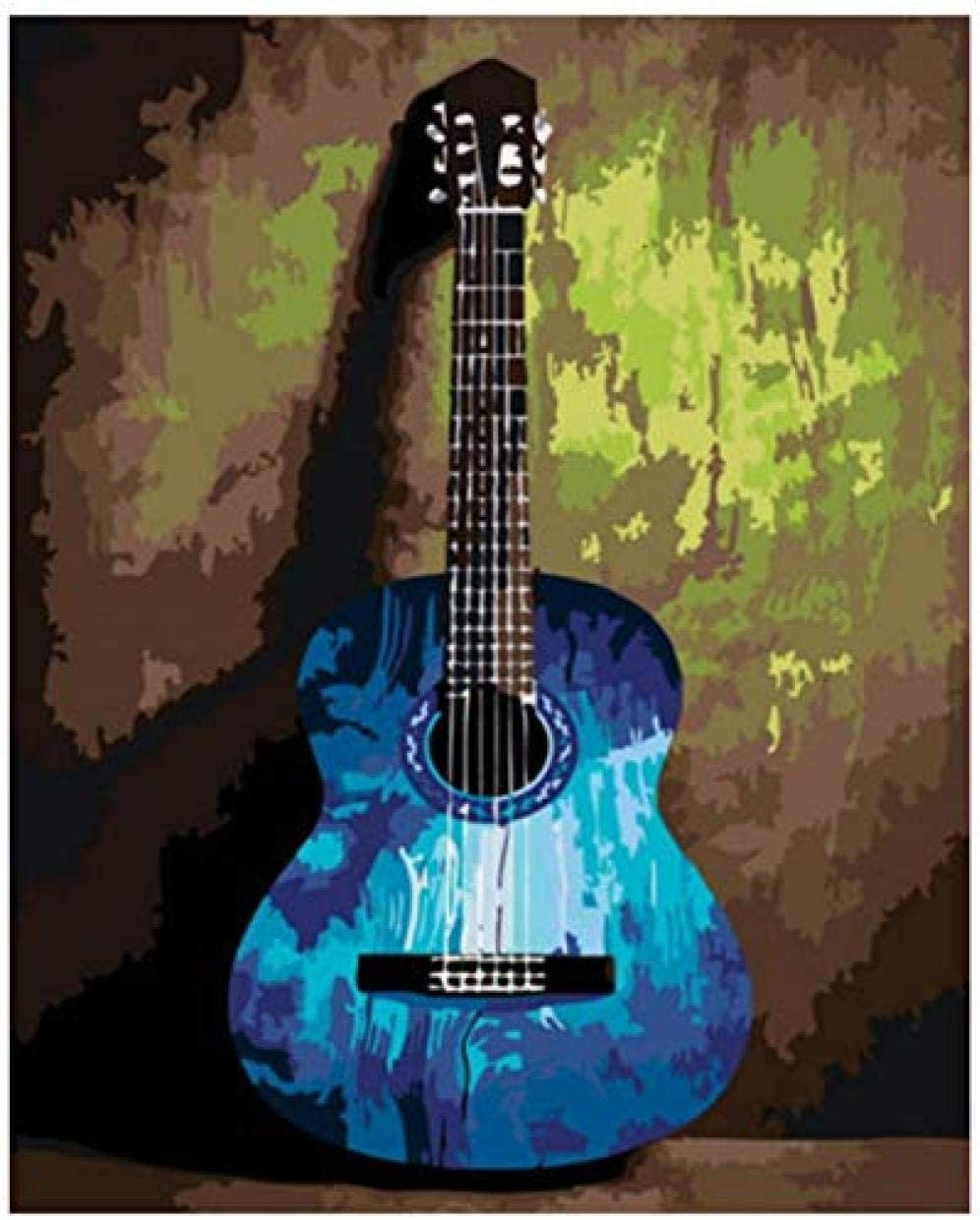 Kids Paint by Number Kits Limited time Popular shop is the lowest price challenge sale guitar- Blue Numbers DIY Canv