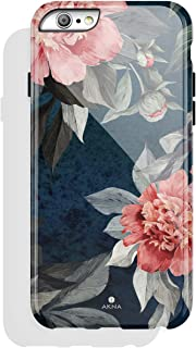 iPhone 6/6s case Floral, Akna Collection High Impact Flexible Silicon Case for Both iPhone 6 & iPhone 6s [Rose and Peony](784-U.S)