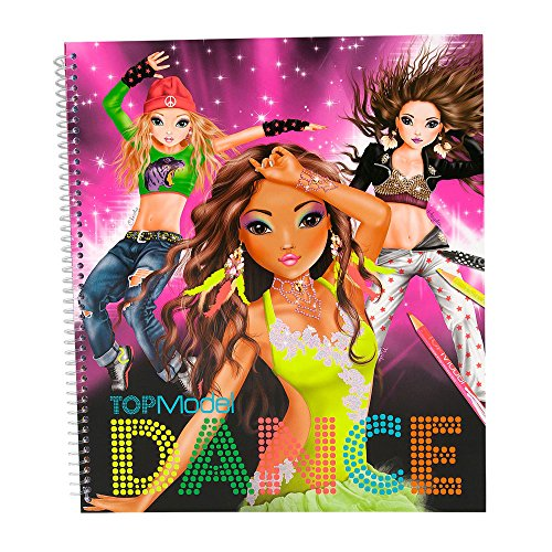 Depesche 7937 TOPModel DANCE Malbuch mit Sticker Top Model Hayden Nyela Christy