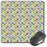 Mouse Pad Gaming Funcional Búhos Alfombrilla de ratón gruesa impermeable para escritorio Alegre Naturaleza Tema Búho Figuras Árboles Hojas Setas y Flores en Colores Animados Decorativo,Multicolor Base