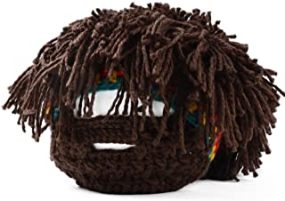 Novelty Unisex Jamaican Beanie Hair Hat Wig Whiskers Mask Knitted Cap