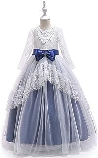 Vestido de princesa de las niñas Hollow princesa niña de las flores vestido de boda del cordón de las muchachas de la fald...
