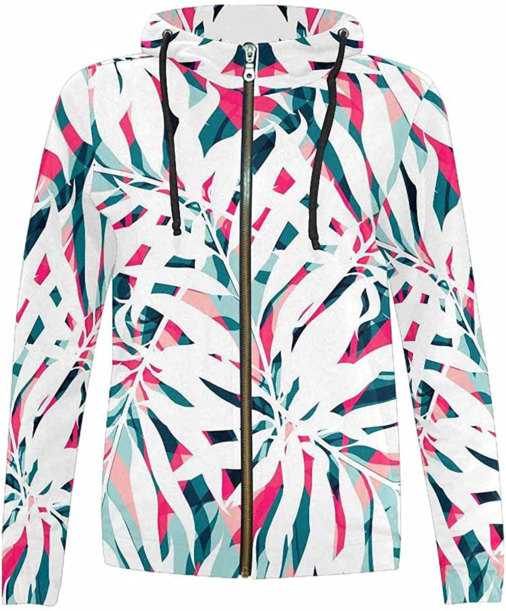 InterestPrint Dark Tropical Full Al sold out. Zip Stand Teen Gi Hoodie Collar New Free Shipping