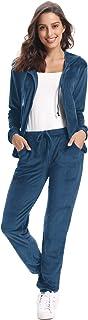 Aibrou Tuta Sportiva Donna in Velluto Completi Felpa 2 Pezzi Felpa con Cappuccio + Pantaloni Jogging Invernale Autunno Pas...