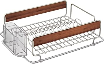 Ivory 360/° Rotatable Water Drain ABS Plastic Material 2 Removable Utensil Holders Nineware Volume Dish Drying Rack 15x13.4x7.1 | Stylish Design 38x34x18cm Made in Korea