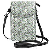 Jiger Women Small Cell Phone Purse Crossbody,Cupids Arrows Valentines Day Illustration With Symbol Of Love Pattern