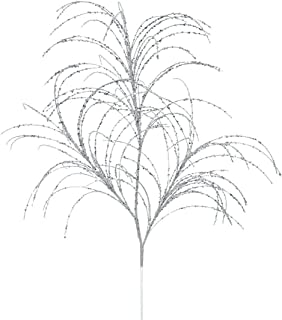 Vickerman QG164007 Glitter Grass Spray x 3 with Paper wrapped wire stem in 6/Bag, 34