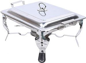 Chauffe-plat en acier inoxydable 6 l - 21 x 26 x 26 cm