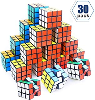 YCS Mini Cube, 30 Pack Party Puzzle Toy,Puzzle Game Set for Boy, Girl, Kid and Child, Magic Cube for Birthday Gift