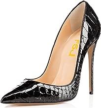 FSJ Women Formal Pointed Toe Pumps High Heel Stilettos Sexy Slip On Dress Shoes Size 4-15 US