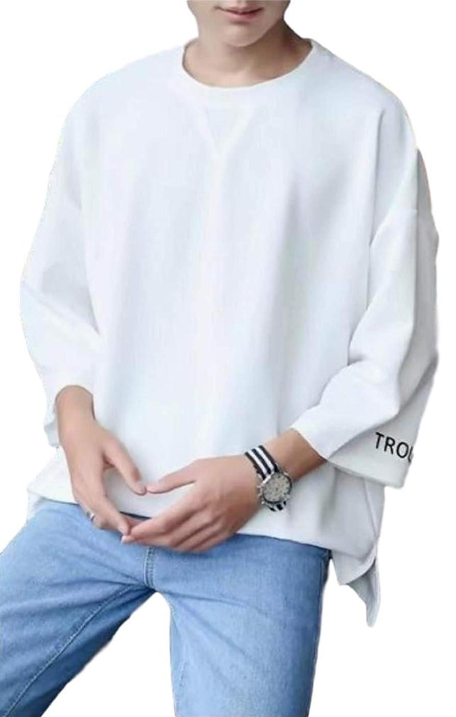 インサートブルジョンチョーク[アルトコロニー] オーバーサイズ tシャツ 大きい ロンt 七分袖 カットソー 格好いい ビッグシルエット M~ 2XL メンズ