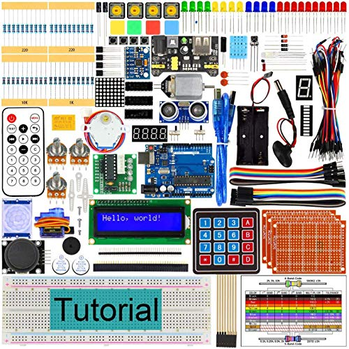 AGOAL RFID Starter Kit with Development Board, 260 Pages Detailed Tutorial, 217 Items, 51 Projects, Solderless Breadboard