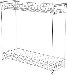 Aigid Spice Rack, 2 Couches En Acier Inoxydable Porte Organisateur De Comptoir De Cuisine Support De Rangement Debout Pour...