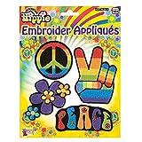 shoperama Gestickte Hippie Applikationen Aufbügler Aufnäher Flower Power Peace Blumen