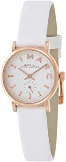 Marc by Marc Jacobs Women's White Dial Leather Band Watch - MBM1284