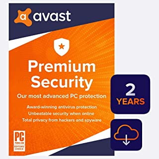 Avast Premium Security 2020 | Antivirus Protection Software | 1 PC, 2 Years [Download]
