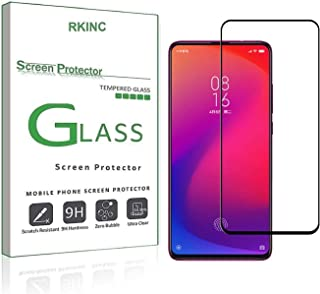 RKINC Screen Protector for Xiaomi Redmi K20, [1 Pack] Full Coverage Tempered Glass Clear Screen Protector [9H Hardness][2.5D Round Edge][0.33mm Thickness] forXiaomi Redmi K20, Black