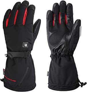 Venustas [2019 Upgraded] Heated Gloves for Men and Women,Heated Ski Gloves, Rechargeable Battery Heated Gloves, Electric Gloves Heat up to 10 Hours