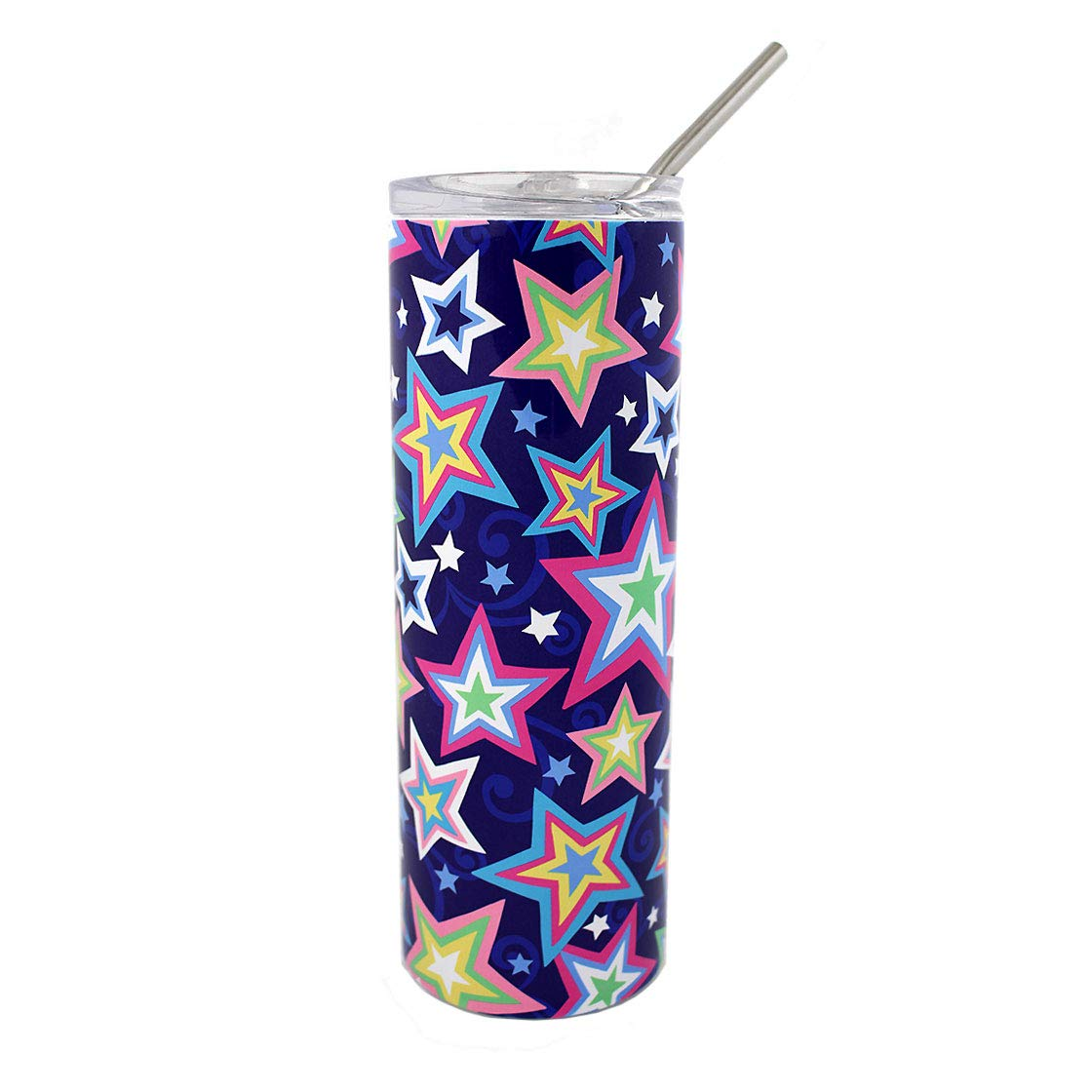 20 oz. Colorful Stars on Stainless Steel NEW New Free Shipping Tumbler M Travel Coffee