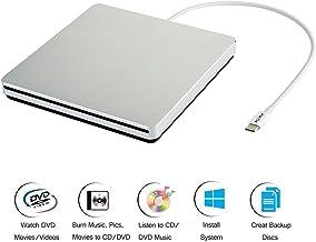USB 3.0 External CD/&DVD Drive Burner,VikTck Portable Ultra-Thin CD//DVD-RW Burner Writer Player for Laptop Notebook PC Desktop Computer,High Speed Data Support Windows XP//Vista//7//8//2000,Mac Sliver