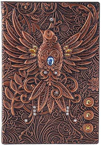 3D-Notebook Vintage Drucker Geprägte Phoenix-Reisen Tagebuch-Notizbuch Journal Leder-Geschenk Bibel Buch Kunst Reisebuch notizbuch klein,leder notizbuch,dljyy