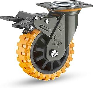 Zwaar uitgevoerde zwenkwielen, eenvoudig te installeren, zwaar uitgevoerd rubberen zwenkwiel, geruisloze zwenkwielen, voor...