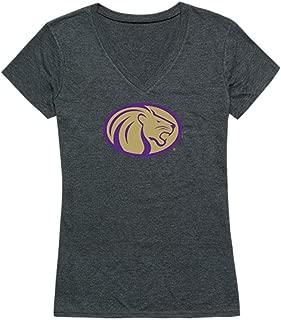UNA University of North Alabama Lions Womens Cinder T-Shirt Heather Charcoal