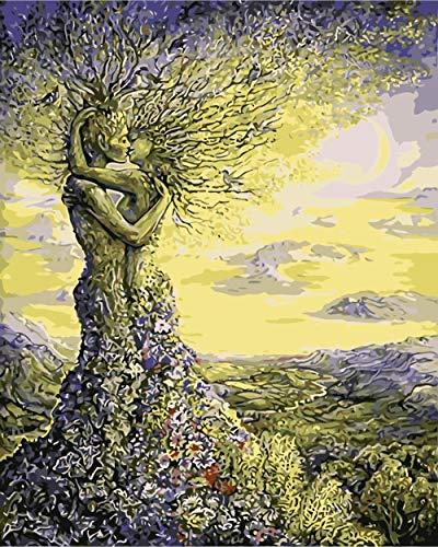 NA/ Pintar por números Beso de Hombre árbol DIY Pintura al...