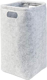 Panier de rangement en feutre gris clair (couleur au choix) 16 x 16 x 33 cm (l x p x h) Rangement pour papier toilette (2)...