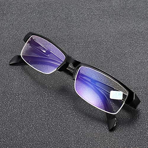EgBert Fertige Beschichtung Myopia-Gläser Klare Optische Halbrandige Kurzsichtige Brille -100 Bis -400 - -3,0