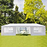 10' X 30' Outdoor Patio Canopy, Heavy Duty Gazebos, Sunshades Shelter Waterproof Commercial Tent with 7 Removable Sidewalls for Events, Wedding, Party (10' X 30' with 7 Sidewalls)
