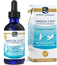 Nordic Naturals Omega 3 Pet - Fish Oil Liquid for Cats and Dogs, Omega-3s, EPA and DHA Supports Skin, Coat, Joint and Overall Health, in Triglyceride Form for Optimal Absorption
