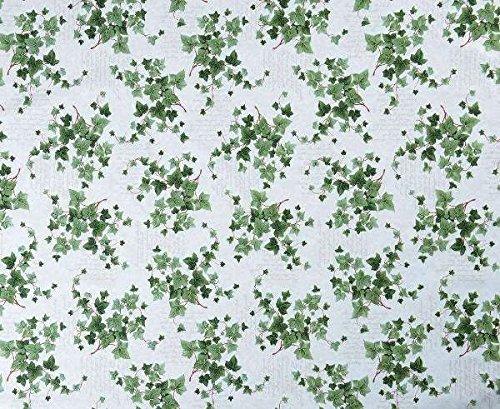 139,7 x 299,7 cm ovale en PVC/vinyle Nappe pour table de jardin – Feuille de lierre Vert avec trou de parasol