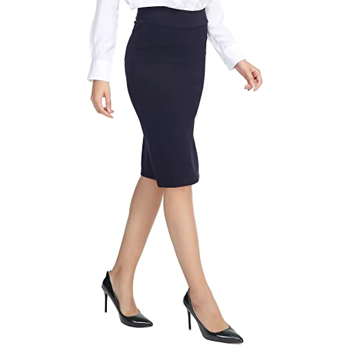 4988f44a95 Urban GoCo Women's Knee Length Stretch Pencil Skirt