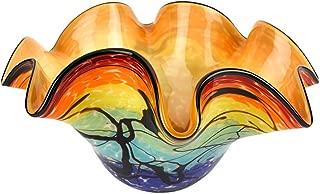 Badash - Allura Murano Style Art Glass Floppy 15 inch bowl-