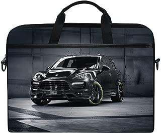 Porsche Cayenne Techart Porsche Tuning SUV Jeep Laptop Shoulder Messenger Bag Case Sleeve for 14 Inch to 15.6 Inch with Adjustable Notebook Shoulder Strap