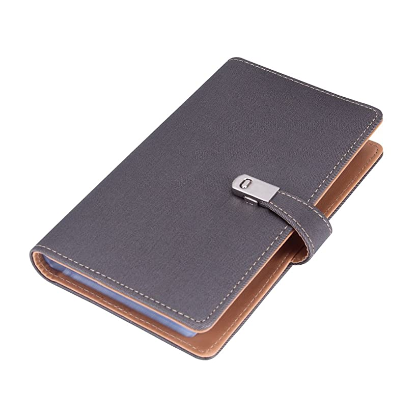Name Card Book Holder Business Card Organizer for 240 Cards (Grey)
