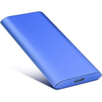 Disco Duro Externo 1tb USB 3.1 Disco Duro Externo para Mac, PC, PS4,MacBook, Chromebook, Xbox (1tb, Azul)
